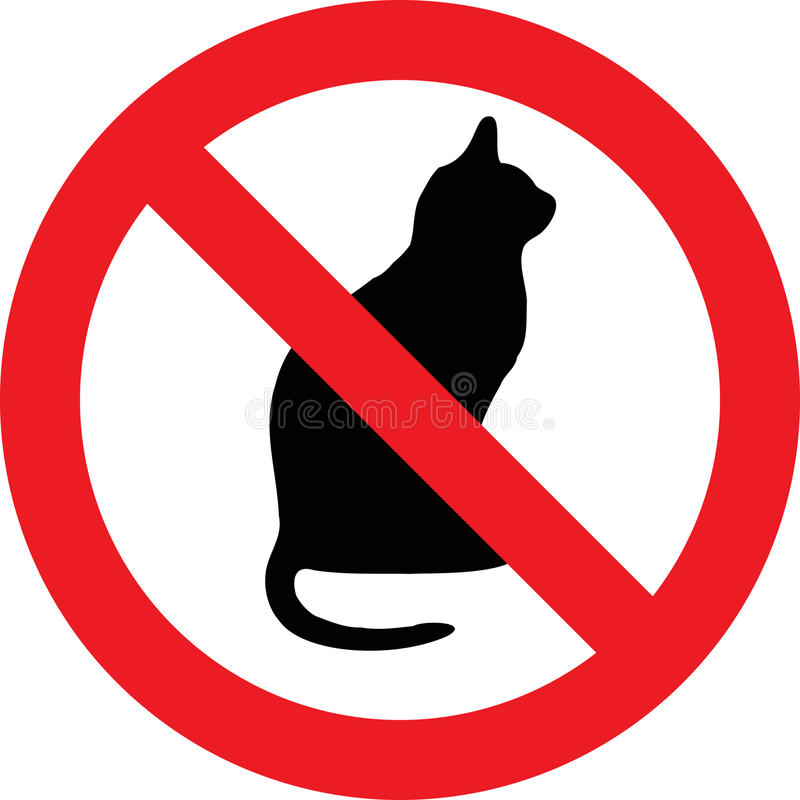Ninguna muestra de los gatos ilustración del vector