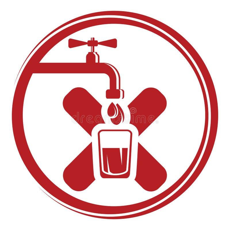 Ninguna muestra del agua potable ilustración del vector