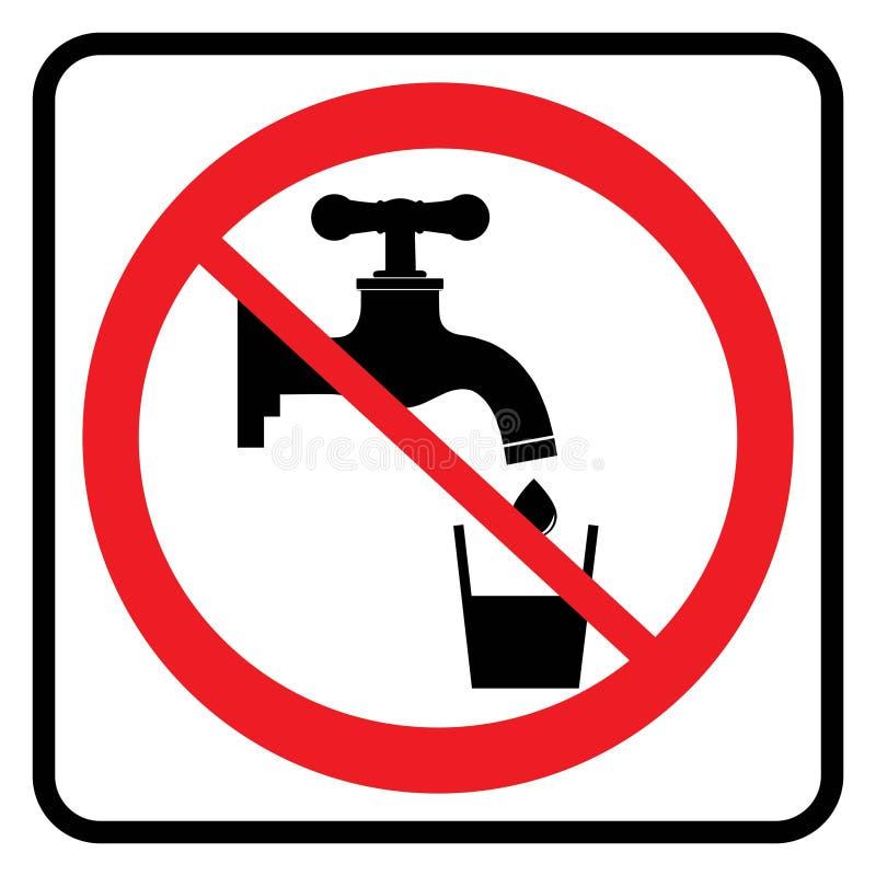 Ninguna muestra del agua potable stock de ilustración