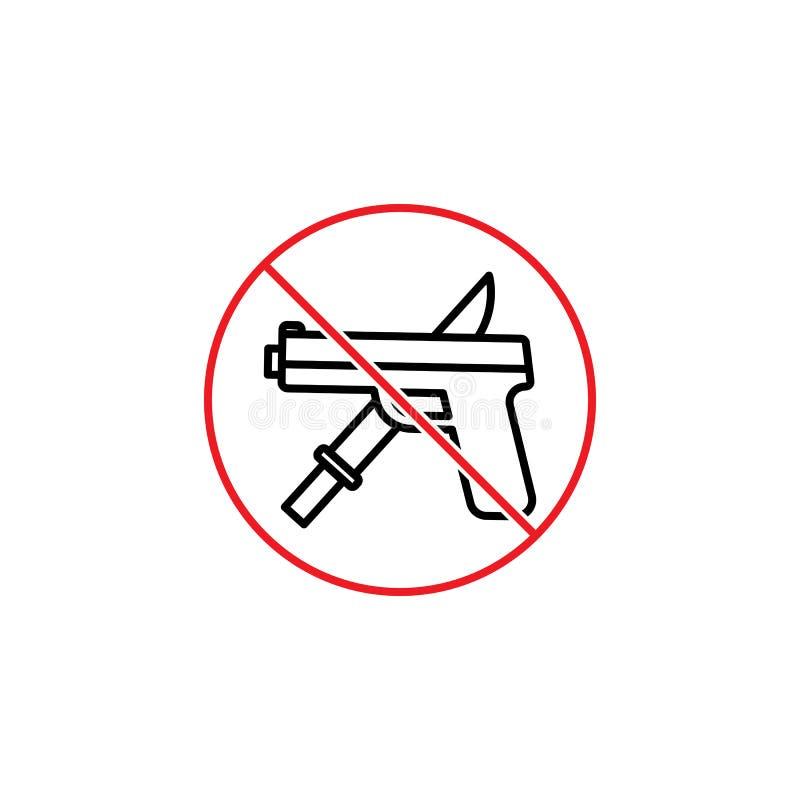Ninguna muestra del arma en el fondo blanco libre illustration