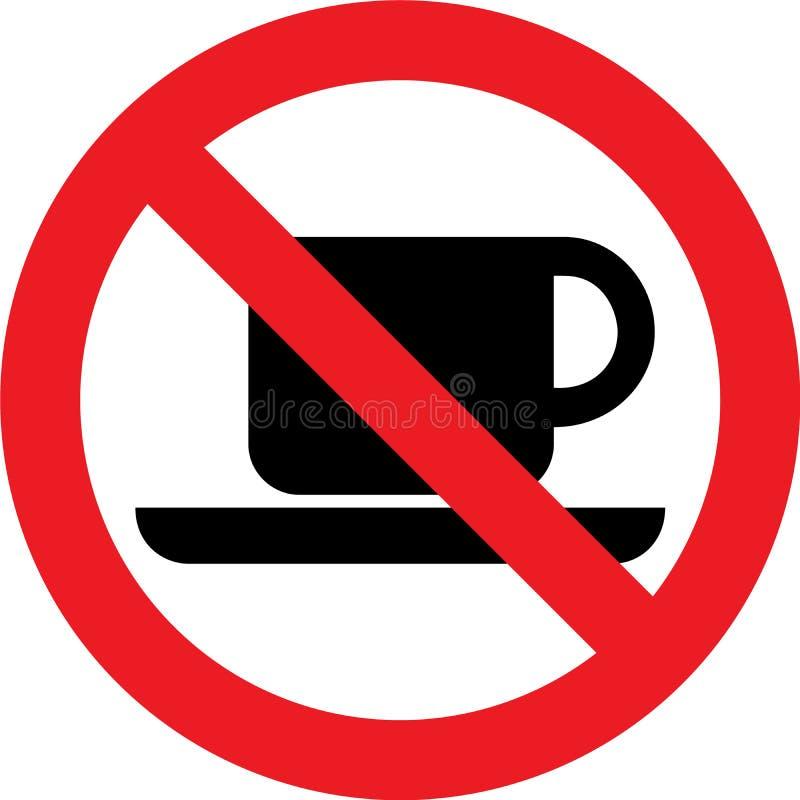 Ninguna muestra del café stock de ilustración