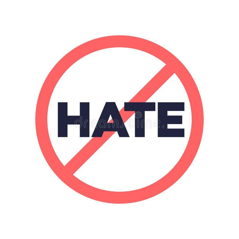 Ninguna muestra del discurso de odio libre illustration