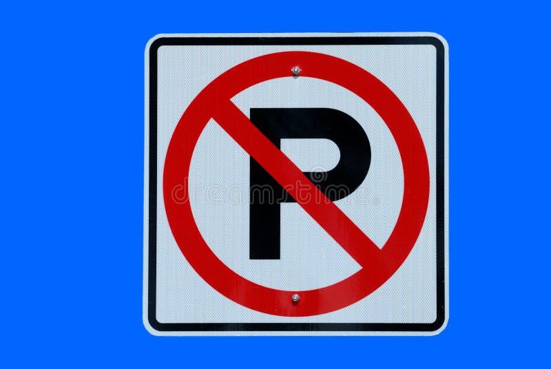 Ninguna muestra del estacionamiento imagen de archivo libre de regalías