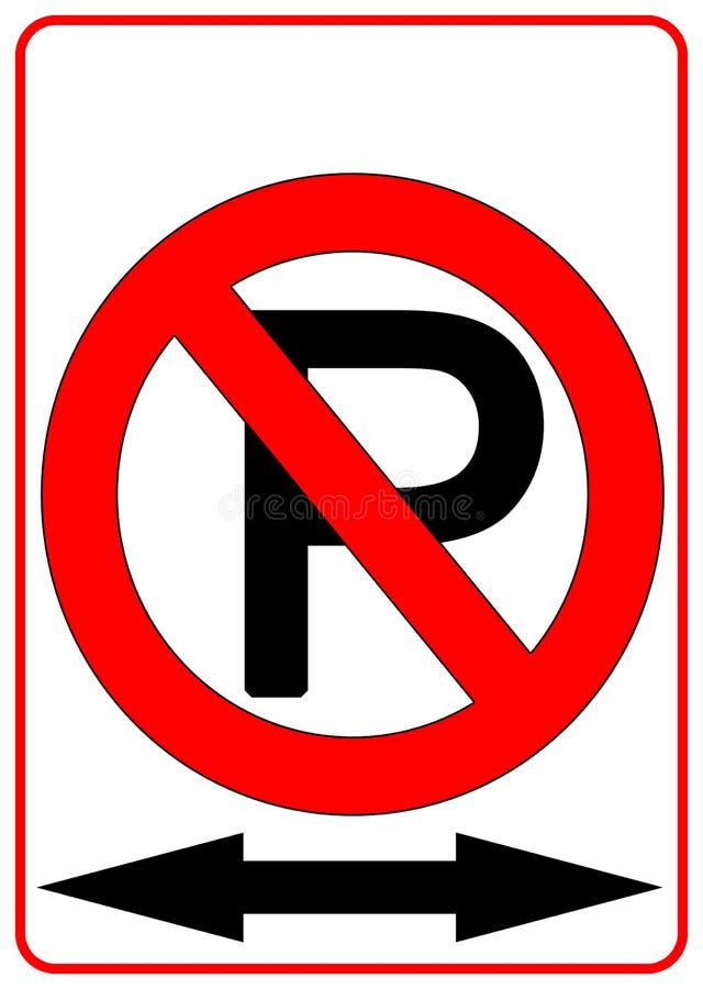 Ninguna muestra del estacionamiento ilustración del vector