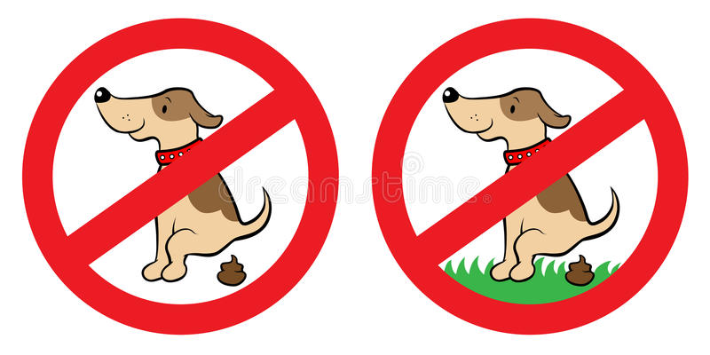 Ninguna muestra del impulso del perro ilustración del vector