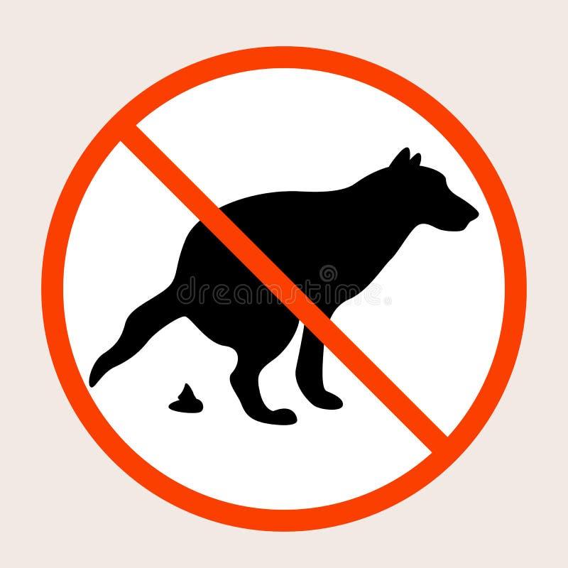 Ninguna muestra del vector del impulso del perro stock de ilustración