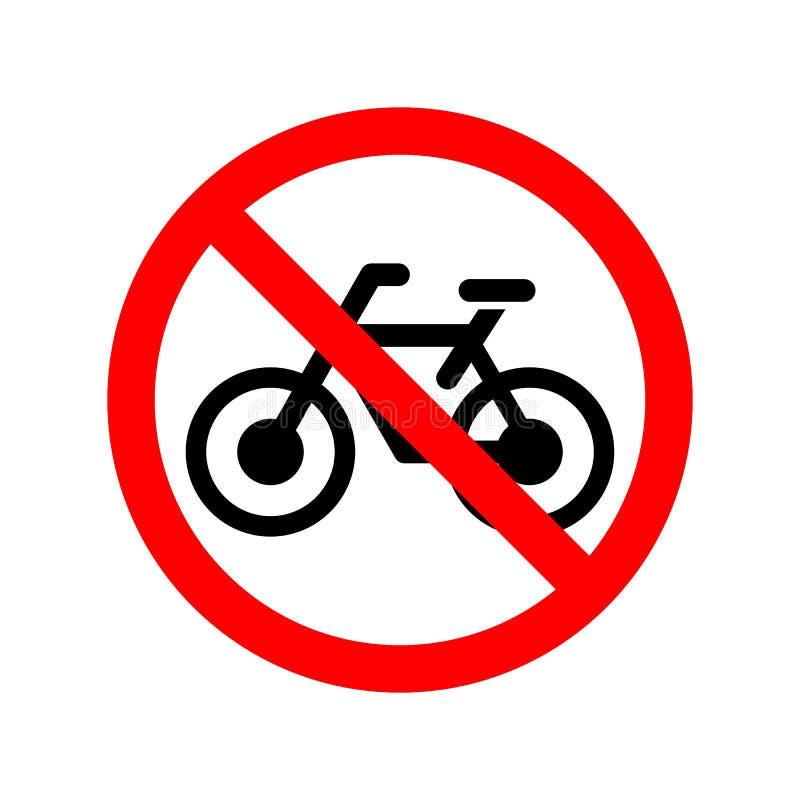 Ninguna muestra permitida bicicleta stock de ilustración