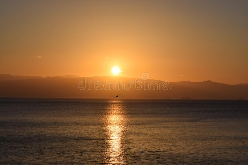 Ninguna puesta del sol como otra fotografía de archivo