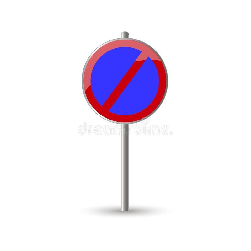 Ninguna señal de tráfico del estacionamiento ilustración del vector