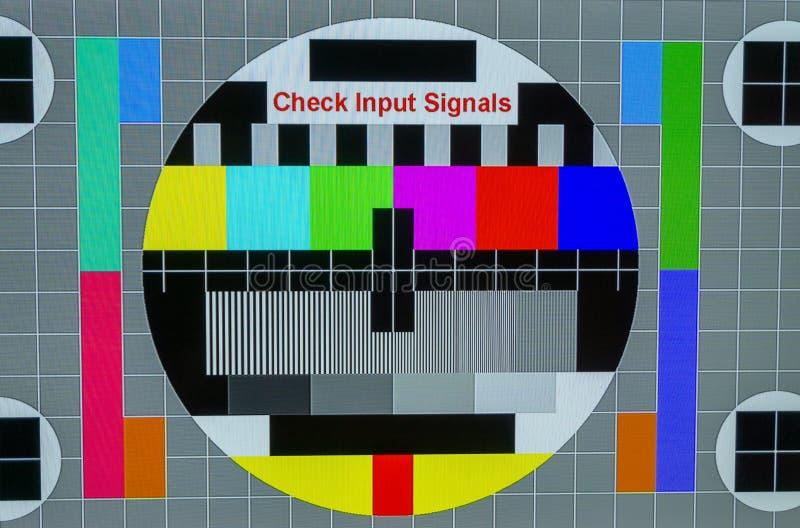 Ninguna señal TV o primer de la pantalla de la entrada imagen de archivo libre de regalías