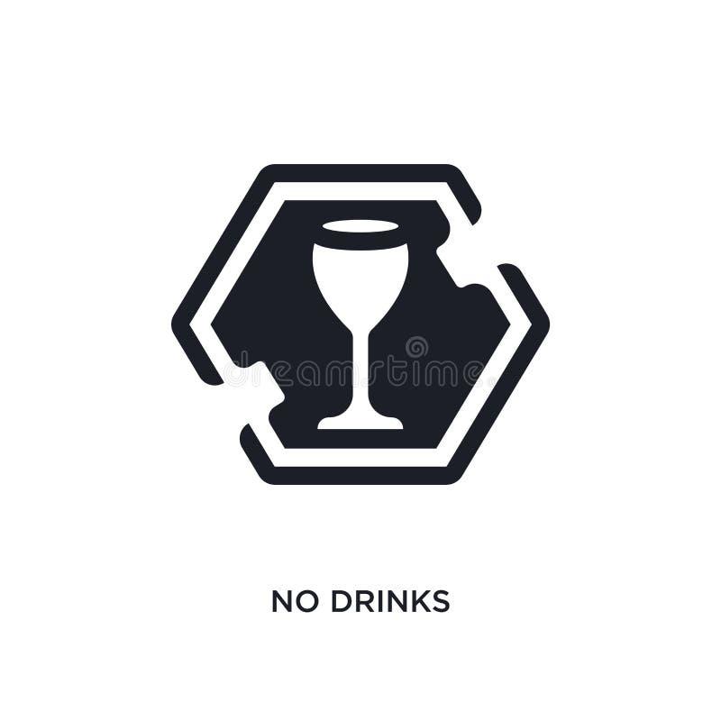 ningunas bebidas aislaron el icono ejemplo simple del elemento de iconos del concepto de las muestras no diseño editable del símb libre illustration