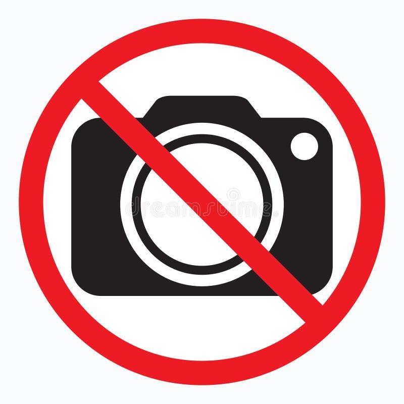 Ningunas cámaras no prohibidas la muestra Prohibición roja ninguna muestra de la cámara Ningunas imágenes que toman, ninguna mues libre illustration