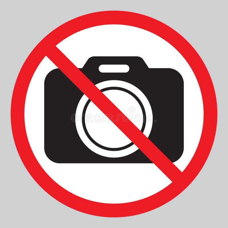 Ningunas cámaras no prohibidas la muestra Prohibición roja ninguna muestra de la cámara Ningunas imágenes que toman, ninguna mues stock de ilustración