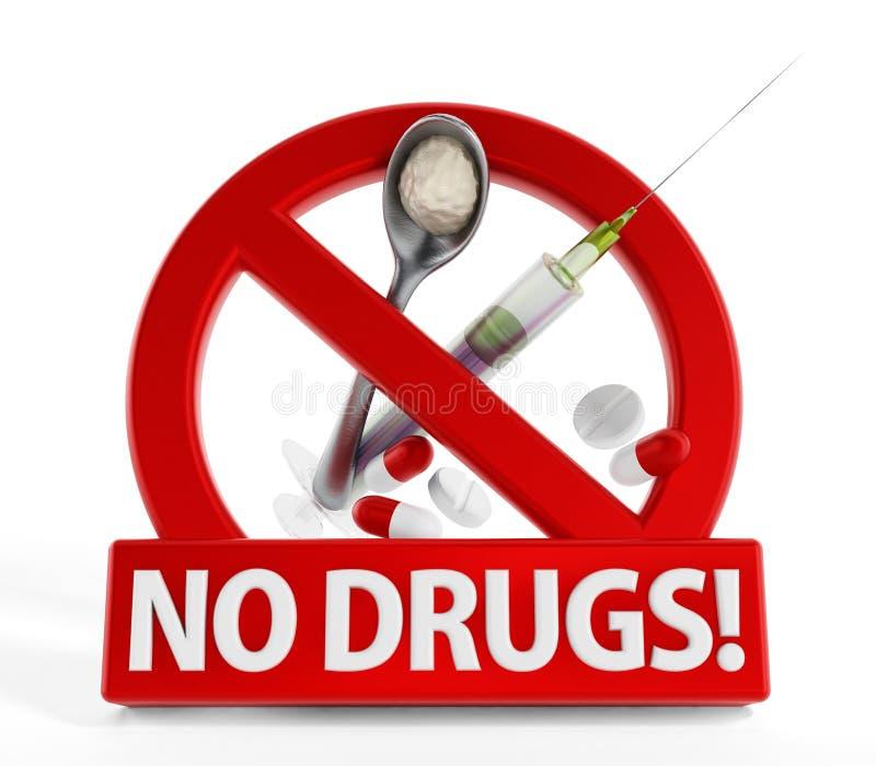 Ningunas drogas ilustración del vector