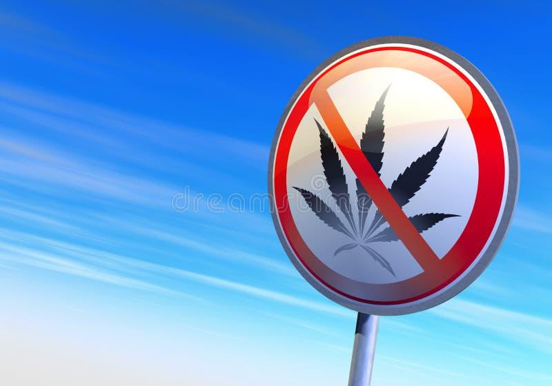Ningunas drogas stock de ilustración