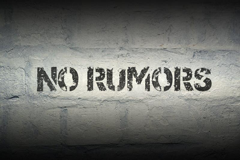 Ningunas rumores GR foto de archivo