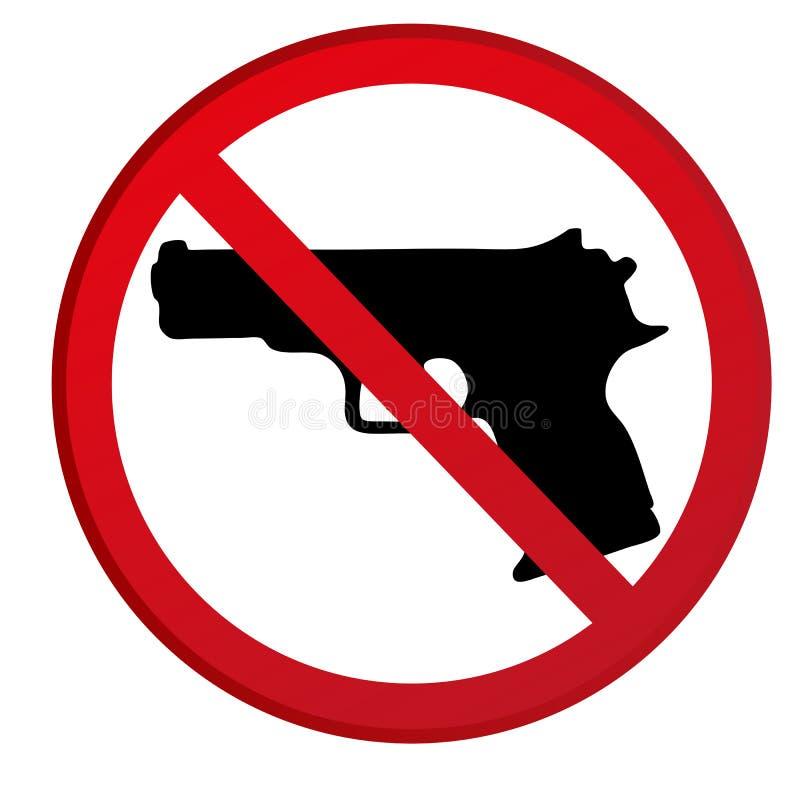 Ningunos armas no prohibidos la muestra stock de ilustración