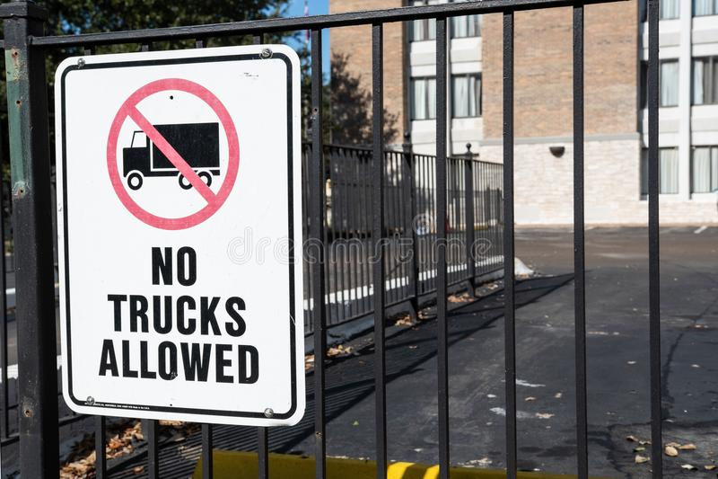 Ningunos carros permitidos imagen de archivo libre de regalías