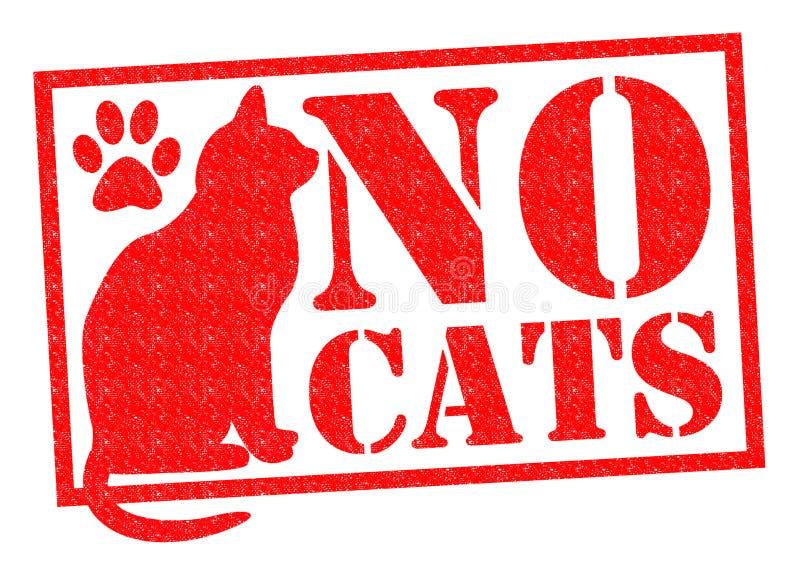 Ningunos gatos stock de ilustración
