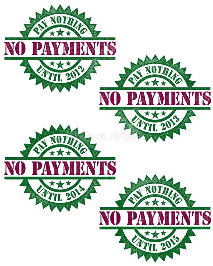 Ningunos pagos que financian el sello del vector fotografía de archivo libre de regalías