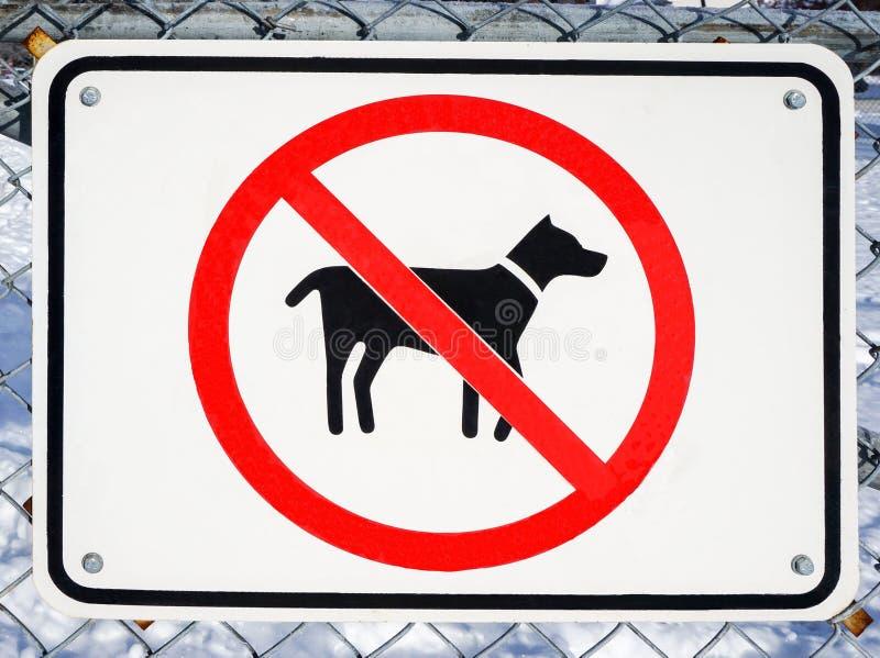 Ningunos perros no prohibidos la muestra foto de archivo libre de regalías