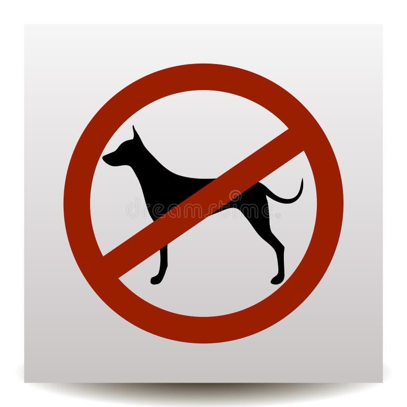 Ningunos perros permitidos Icono de la prohibición del perro libre illustration