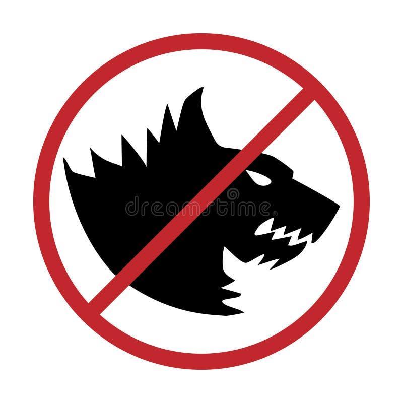 Ningunos perros permitidos Muestra de la prohibición del perro, stock de ilustración