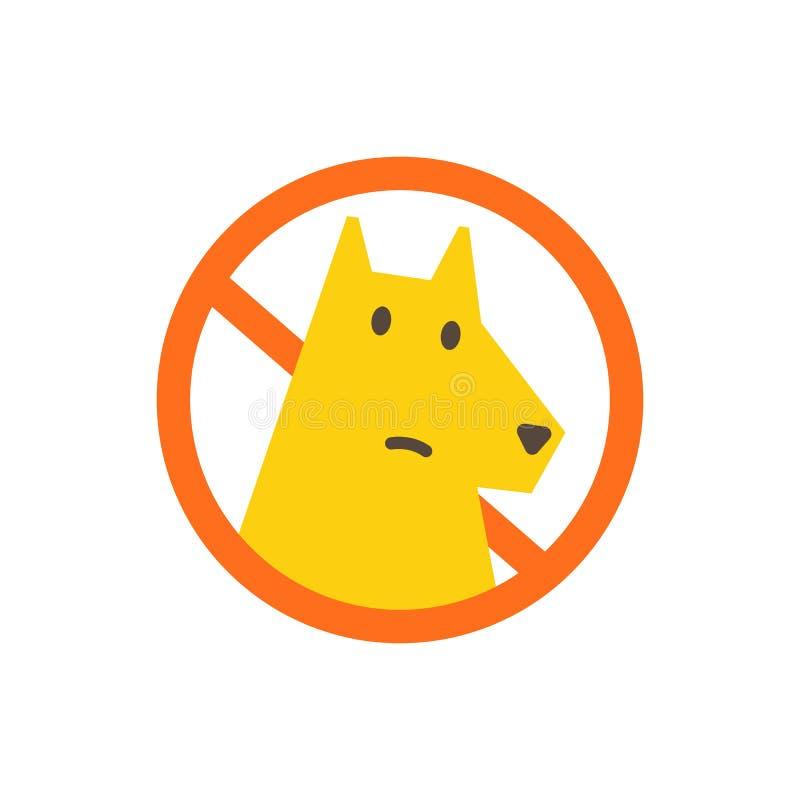 Ningunos perros permitidos Se proh?be el recorrer del perro Muestra de la prohibición en el parque Con un perro es imposible Ning ilustración del vector