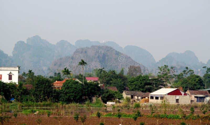 Ninh Bình石灰石风景 免版税库存照片
