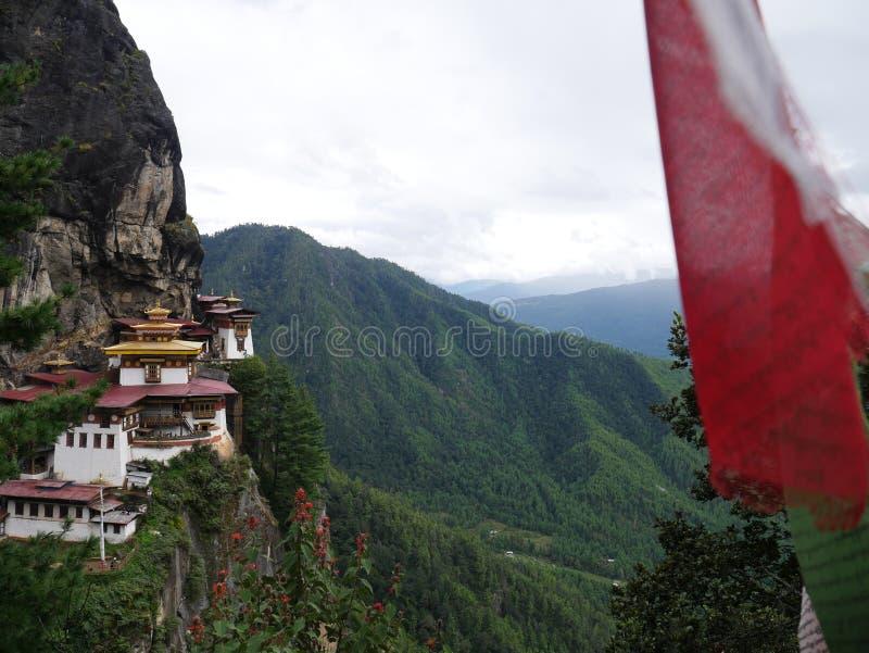 Ninho Butão dos tigres fotografia de stock royalty free