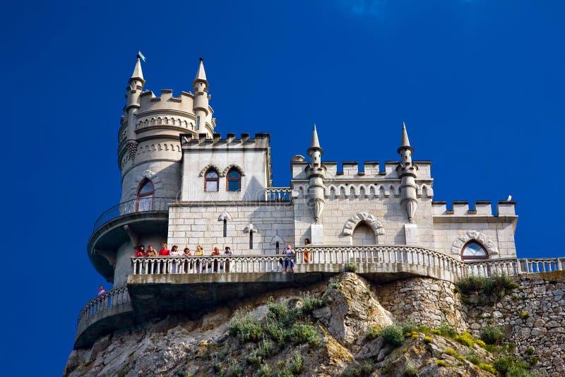 Ninho da andorinha perto de Yalta imagens de stock royalty free