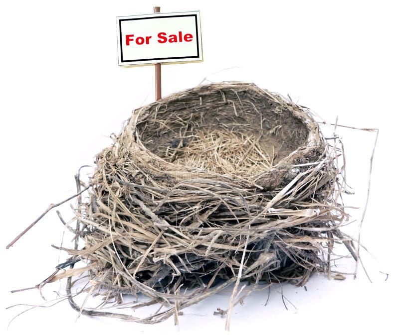 Ninho do pássaro - bens imobiliários '08 fotos de stock royalty free