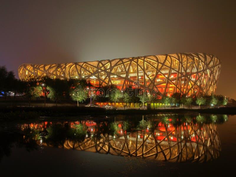 Ninho do pássaro (China Statium nacional) foto de stock royalty free