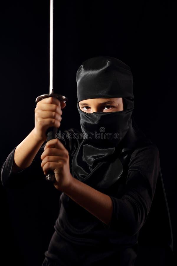 Ninja孩子 免版税库存图片