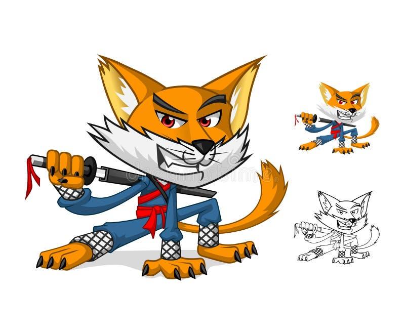 NInja猫吉祥人漫画人物 皇族释放例证