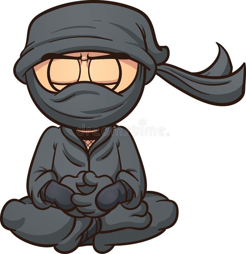 ninja κινούμενων σχεδίων απεικόνιση αποθεμάτων