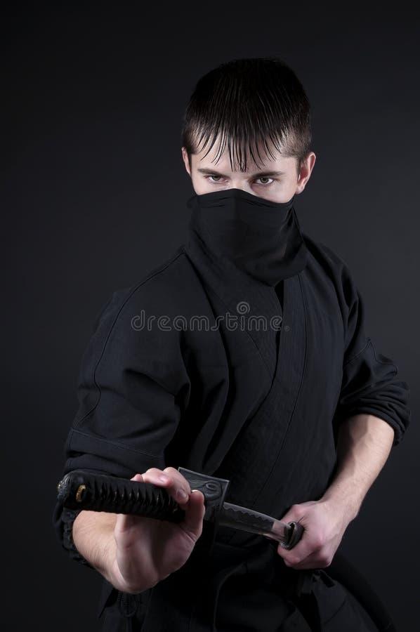 Ninja -间谍,破坏分子,封建日本的秘密行动刺客。 免版税库存照片