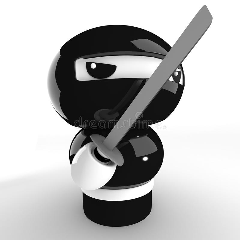 ninja ilustracja wektor