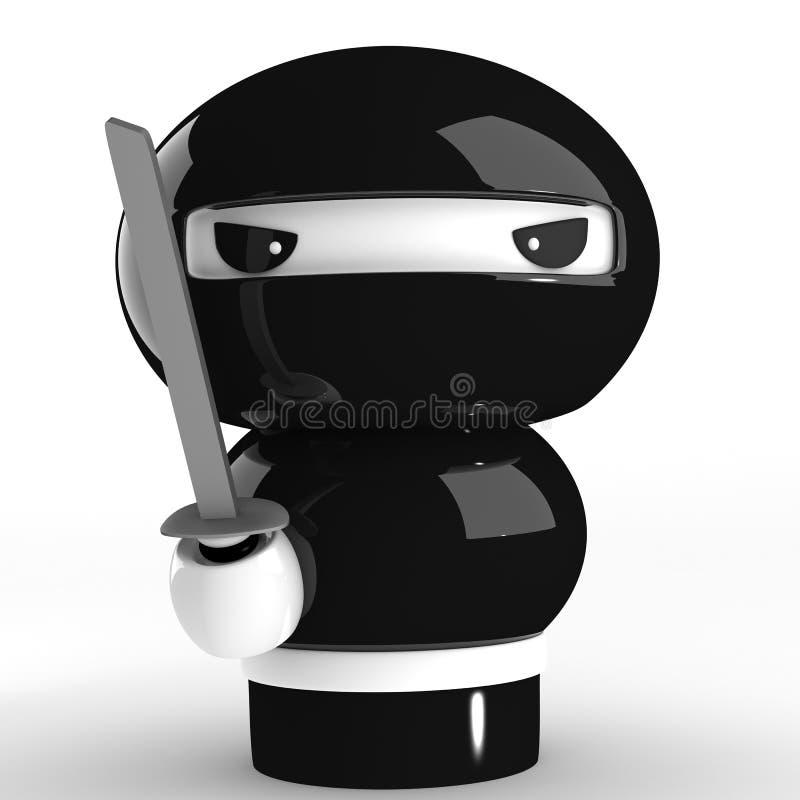 Ninja ilustração royalty free
