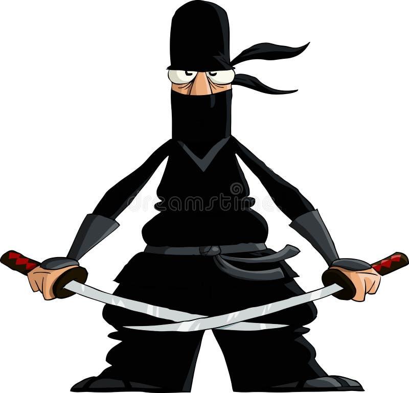 Ninja vektor abbildung