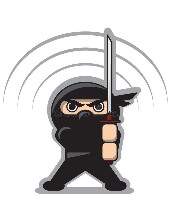 ninja vektor illustrationer