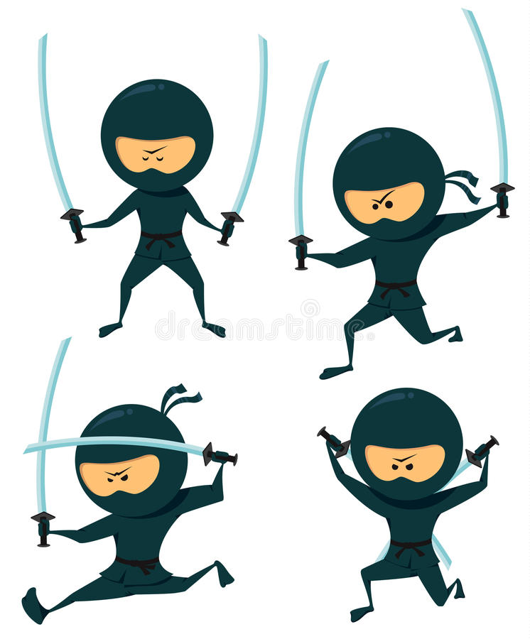 Ninja illustration stock