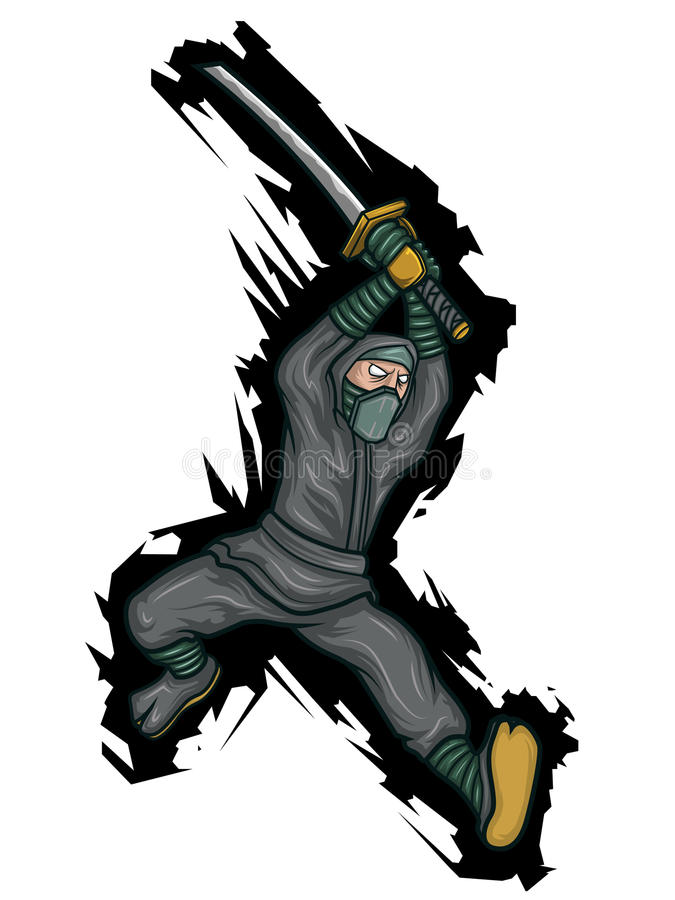 ninja иллюстрация штока