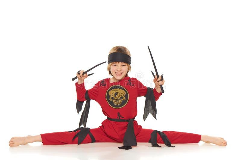 年轻Ninja 免版税库存图片