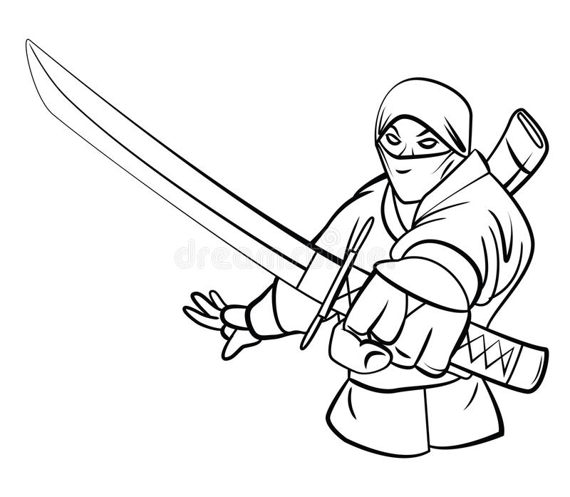 ninja illustration de vecteur