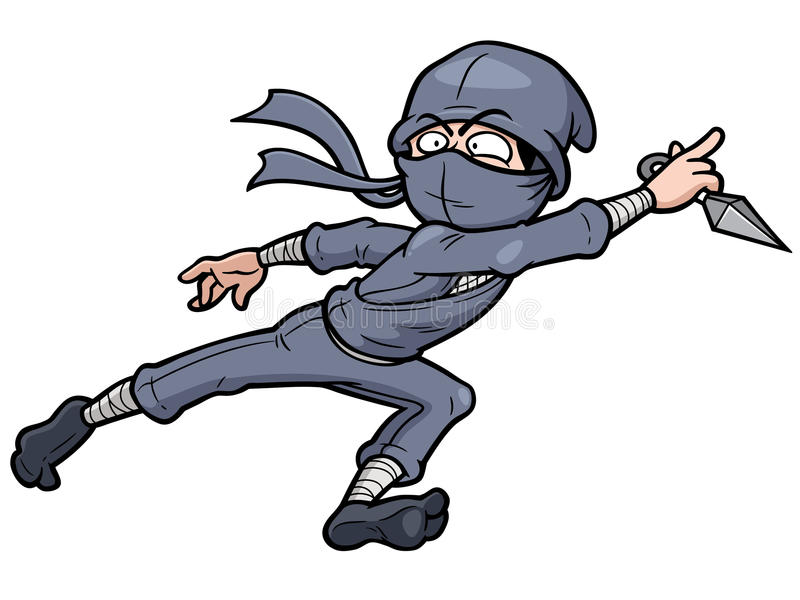 Ninja διανυσματική απεικόνιση