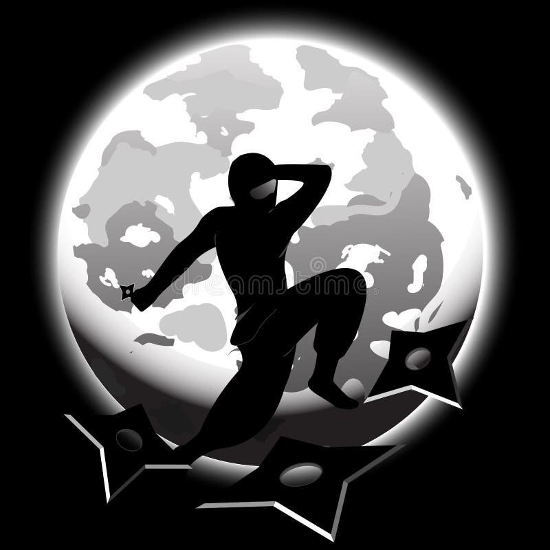 ninja royaltyfri illustrationer