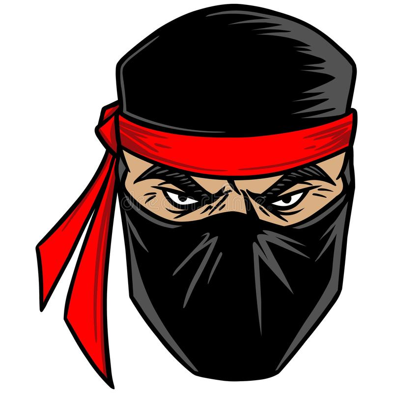 ninja ilustração stock