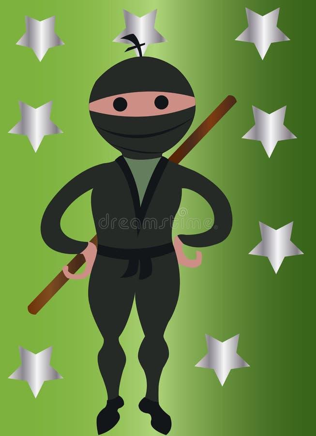 Ninja chłopiec royalty ilustracja