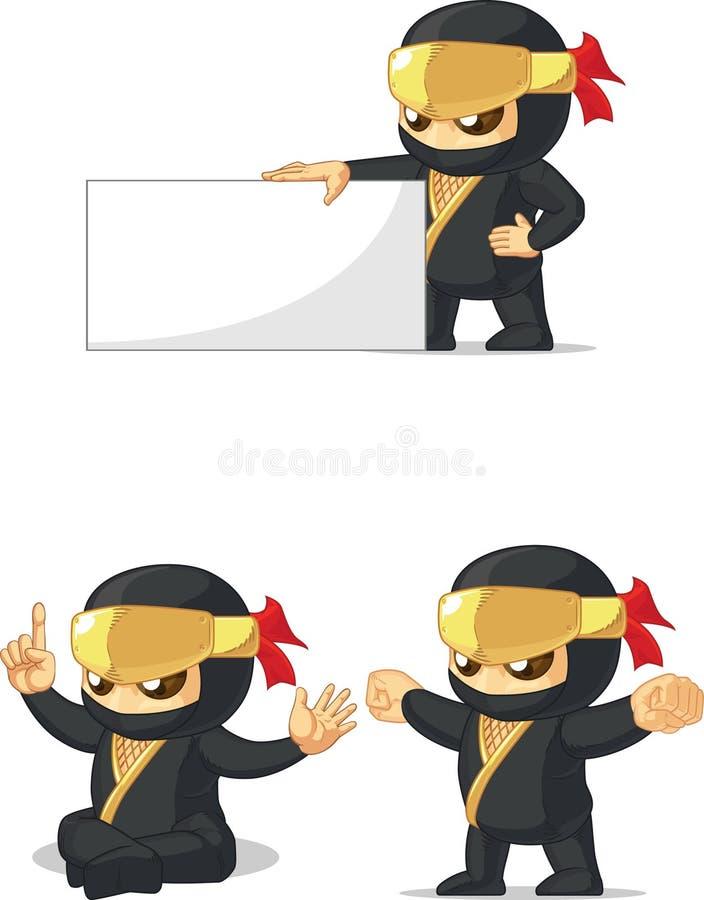 Ninja Customizable Mascot 13 illustration de vecteur